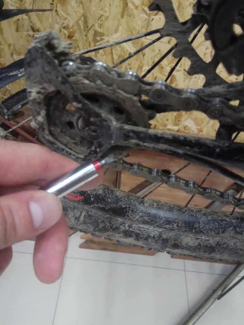 Снятие велосипедной цепи