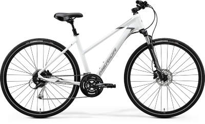 Велосипед Merida Crossway 100 Lady (2020) Matt White Grey
