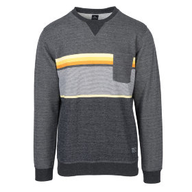 Толстовка Rip Curl Yarn Dyed Stripe Crew Fleece (Dark Marle)
