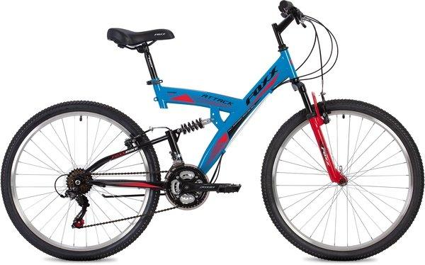 "Велосипед Foxx 26"" Attack 20"" синий"