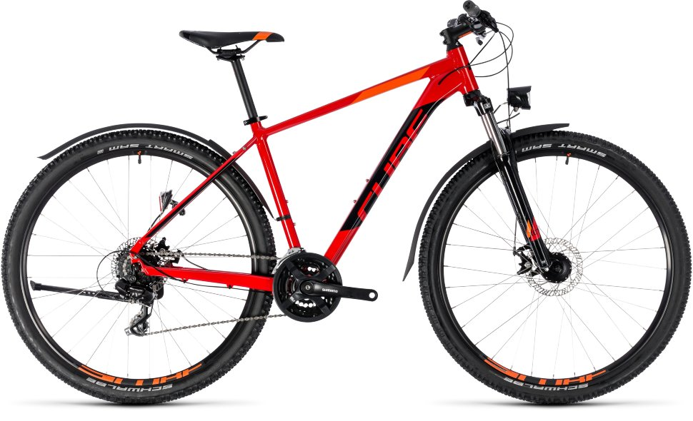 Велосипед CUBE AIM Allroad 27.5 (2018) red?n?black