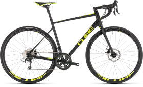 Велосипед Cube Attain Race Disc (2019) Black Flashyellow
