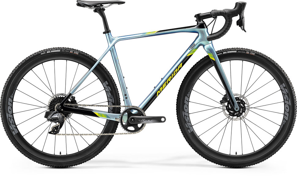 Велосипед Merida Mission CX Force-Edition (2020) Glossy Sparkling Blue Black Lime